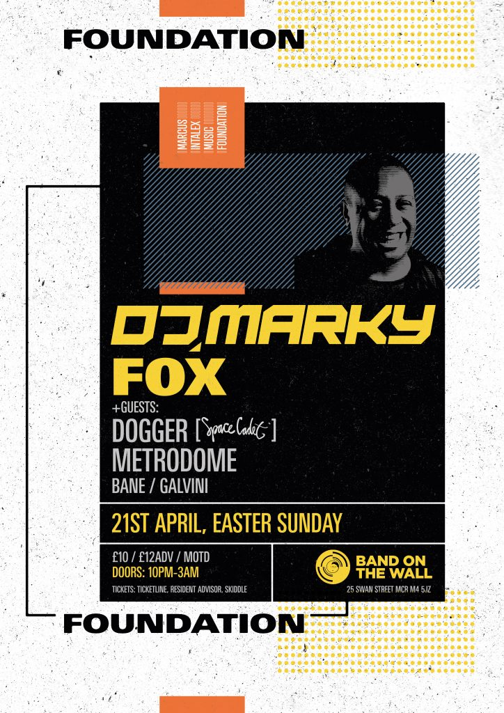 Foundation w/ DJ Marky & Guests, Sun 21.04, Band on the Wall